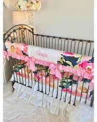 Crib Baby Bedding Savings On Navy Portadown Watercolor Floral Crib Bedding Baby