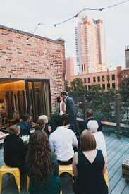 small wedding venues chicago rooftop wedding ceremony chicago bernit bridal