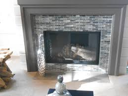 glass mosaic fireplace accent fabulous fireplaces pinterest