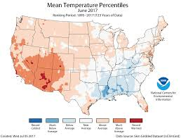 Colorado Temperature Map by Assessing The U S Climate In June 2017 National Centers For