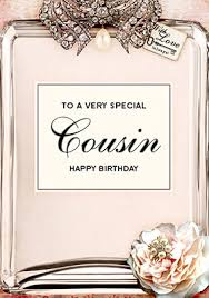 Birthday Card Holder Love Labels Birthday Card Cousin Funky Pigeon