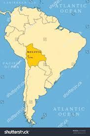 La City Map Bolivia Locator Map Country Capital City Stock Vector 127610792