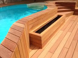 plage de piscine plage de piscine en bois exotique mururé à millery rhône made