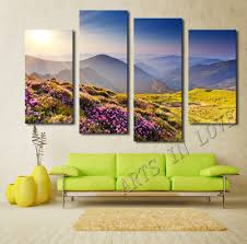 hand painted wall painting home decor landscape oil painting red