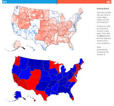 2016 Election Prediction Map by App To Redraw The States And Change The Electoral Map
