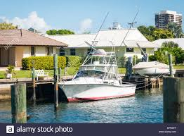 florida palm beach west typical intercostal waterway house water