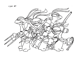 amazing simple teenage mutant ninja turtles coloring 728