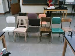 Types Of Chairs by Nine Different Types Of Chairs In A University Classroom