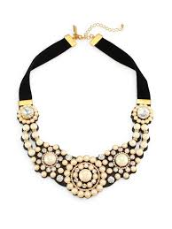 statement necklace pearl images Kate spade new york velvet glass pearl statement necklace multi jpg