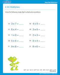 it all multiplies free multiplication worksheet for 3rd grade