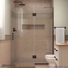 48 inch frameless shower door