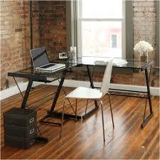 L Shaped Glass Desks L Shaped Glass Top Computer Desk