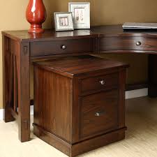 Wood Computer Desk Corner Varnished Wooden Computer Desk In Brown With Drawer For