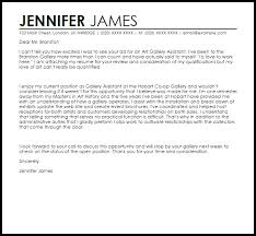 Resume For Artist Art Gallery Assistant Cover Letter Sample Livecareer