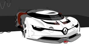 renault alpine concept renault alpine concept art sketch desktop wallpaper