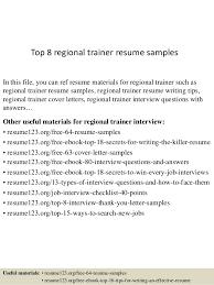 top 8 regional trainer resume samples 1 638 jpg cb u003d1432856336