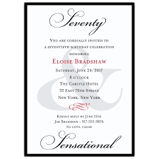 classic 70th birthday milestone invitations paperstyle