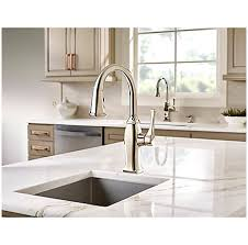 polished nickel kitchen faucets alluring polished nickel briarsfield 1 handle pull bar and
