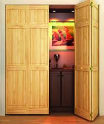 Folding Doors For Closets Bi Fold Door Six Panel Style Solid Wood 80x30 Closet Storage