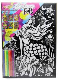 kreative kids colourful velvet felt art picture colouring