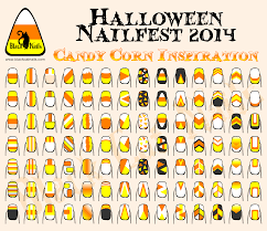candy corn inspired nail designs halloween nailfest 2014 black