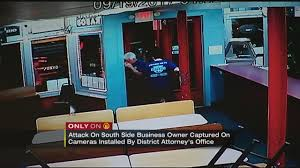 attack on south side business owner captured on cameras installed