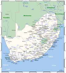 Africa Maps by Map Of South Africa With All Cities South Africa Map With All
