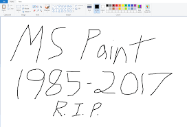 microsoft moves to kill ms paint