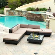 poolside furniture ideas pool furniture sale white and blackish brown round unique rattan