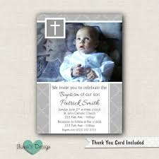 Baptismal Invitation Card Design Grey Baptism Invitations Boy Christening Invitations Boy