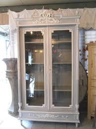 vaisselier mural ancien vitrine bibliothèque vaisselier noeud louis xvi patinée la