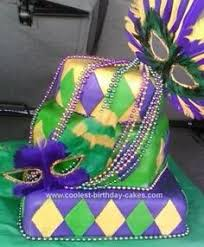 mardi gras specialty purple black and silver mardi gras cake by maywest on cakecentral