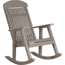 Recycled Plastic Rocking Chairs Luxcraft Classic Recycled Plastic Rocking Chair Rocking Furniture