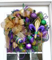 mardi gras deco mesh purple green gold decomesh mardi gras wreath by lefleurcreations