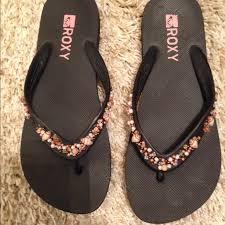 seashell flip flops shoes seashell flip flop sandals cond poshmark