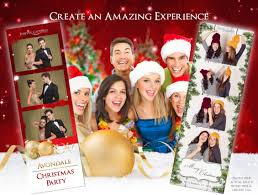 christmas party photo booth rental with forever captured photo