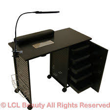 nail table ventilation systems vented manicure table salon spa equipment ebay