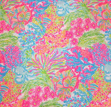 Lilly Pulitzer by Lilly Pulitzer Fabric Lovers Coral From Preppyfabrics On Etsy Studio