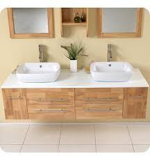 59 u201d fresca bellezza fvn6119nw natural wood modern double vessel