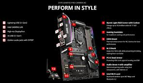 Z370 Specs Msi Z370 Gaming Pro Carbon Motherboard Review Page 2 Of 9