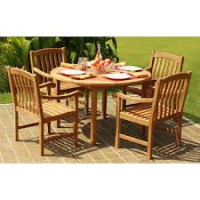 Teak Dining Room Set Crestwood Garden Collection 5 Pc Teak Dining Set Bj U0027s Wholesale