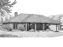 Southwest House Plans Mesilla 30 Hipped Roof Highlighted Hwbdo13860 Contemporary House Plan