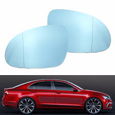 Door Mirror Glass by Left Right Wing Mirror Blue Tinted Glass Heated For Vw Jetta