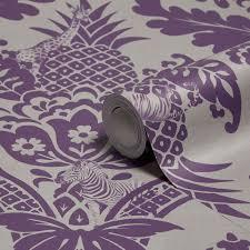 holden décor bengal purple damask wallpaper damask wallpaper