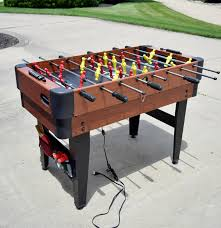 sportcraft multi game table including foosball air hockey table