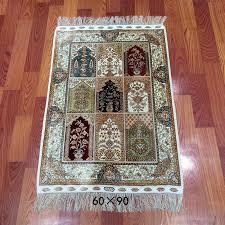 chinese handmade silk prayer mat muslim silk prayer rugs for sale