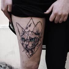 tattoo on leg for women tattoo cat sphinx sketch work leg tattoo tattoo for women