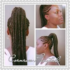 weave ponytails cornrow two ponytail hairstyles cornrow hairstyle with a