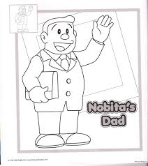nobitas dad doraemon coloring pagesfree coloring pages for kids