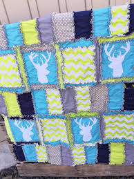 Gray Baby Crib Bedding Woodland Baby Quilts And Nursery Bedding With Deer Heads A